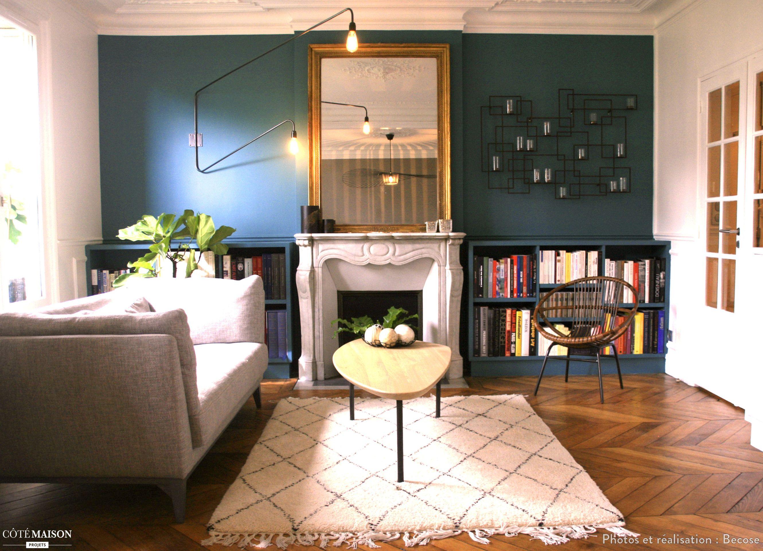 tropical-chic : rénovation d'un appartement parisien de 75m², becose