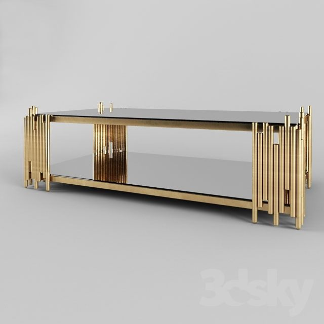 Barcelona Modern Rectangular Glass Coffee Table Sofa Table