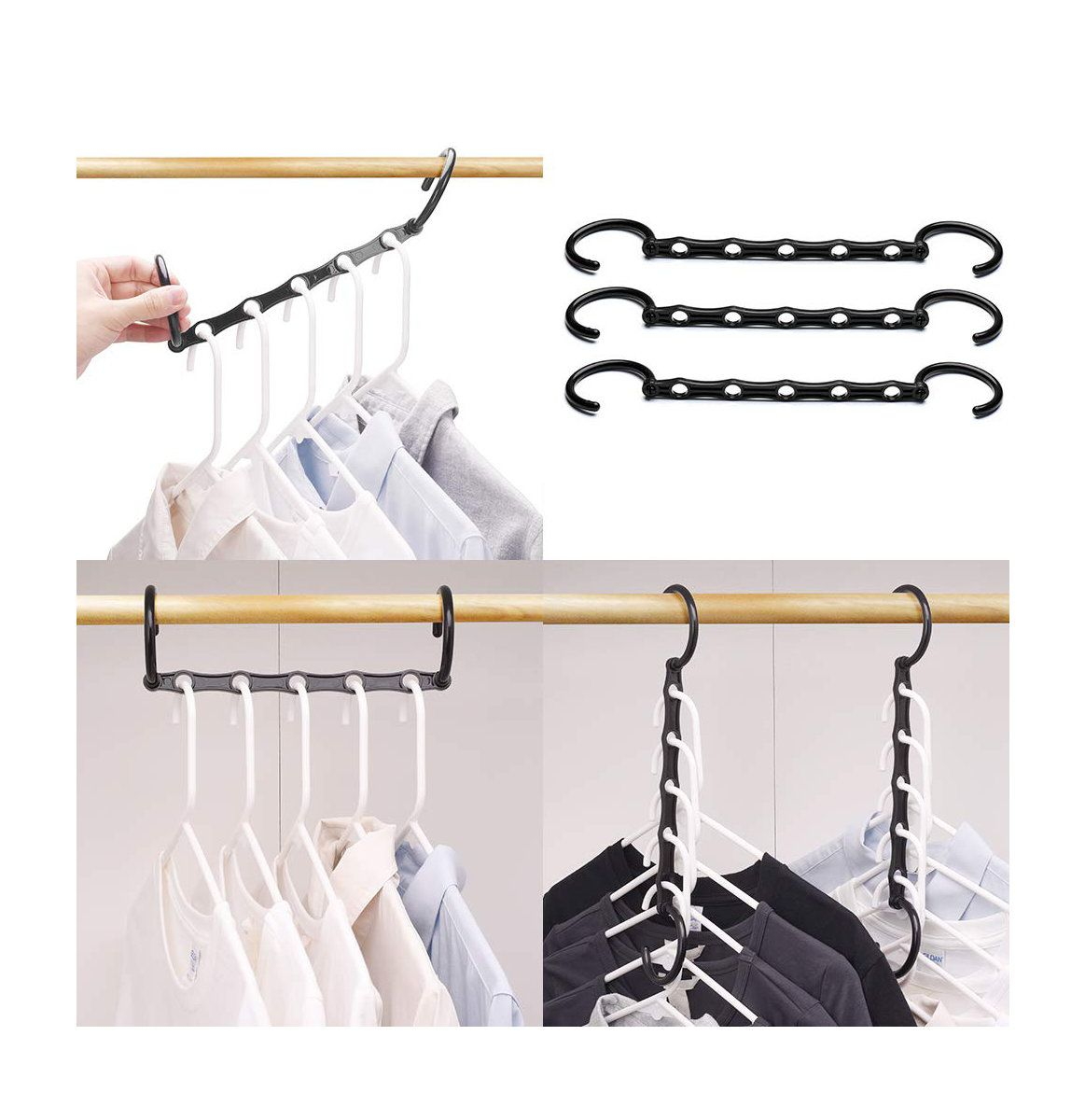 25 Best Organizers For Closets Desks And More On Amazon Space Saving Hangers Closet Space Savers Smart Closet