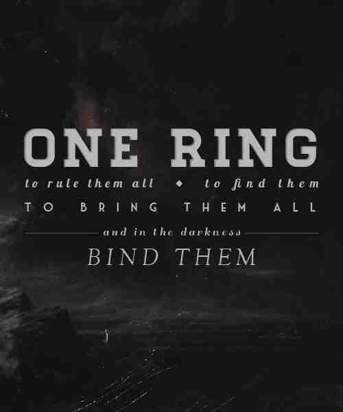 One Right To Rule Them All One Ring To Find Them One: The Geeks Shall Inherit Middle Earth