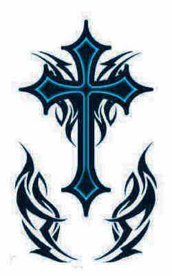 afe1c5883 tribal Belly Button Tattoos Gallery | Go Forward from Tribal Cross Tattoos  to Holy Cross Tattoos