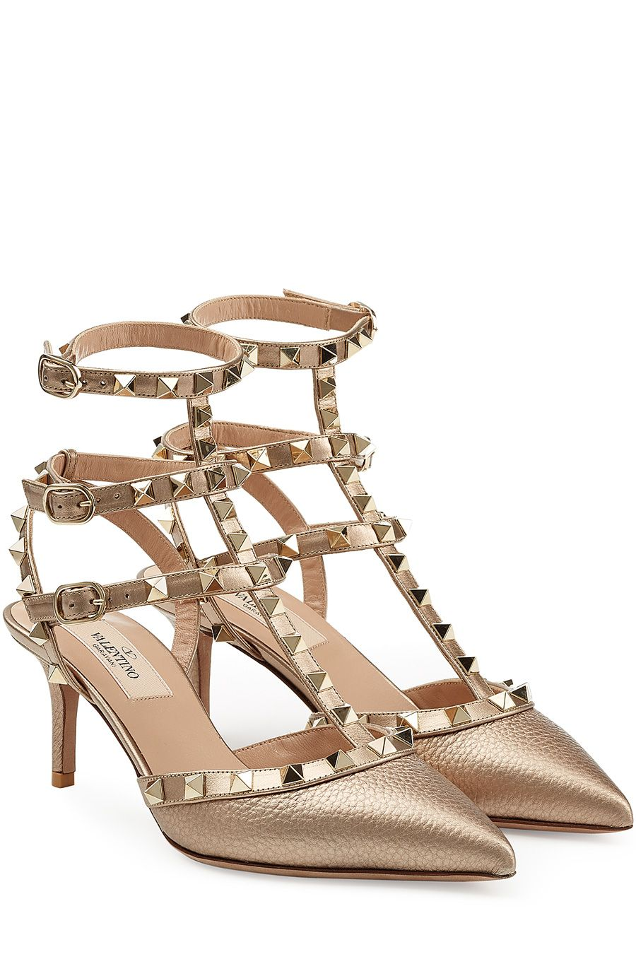 0e7798df57 Leather Rockstud Kitten Heels | Stay calm n buy shoes ;) | Valentino ...