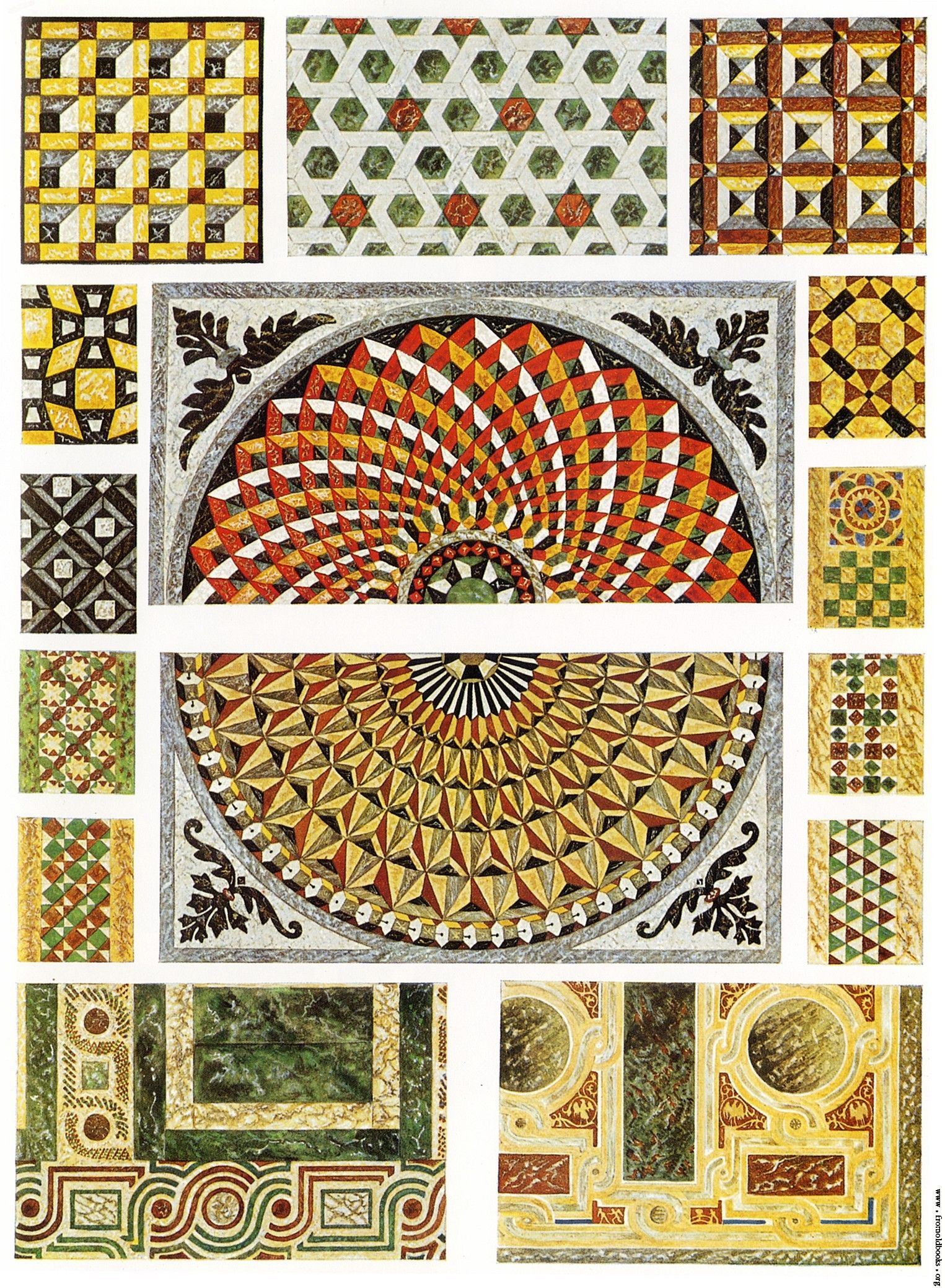 Byzantine Marble Mosaic Floors Cathedral Of Ravenna San Vitale