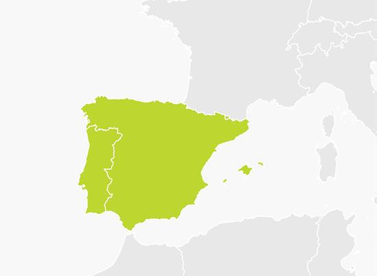 tomtom mapa portugal Mapa da Península Ibérica (Portugal e Espanha) | Paisagens  tomtom mapa portugal