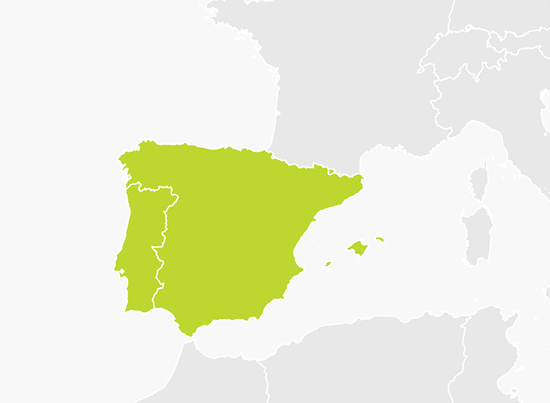 mapa tomtom portugal Mapa da Península Ibérica (Portugal e Espanha) | Paisagens  mapa tomtom portugal