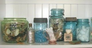 what a nice way to put my collection of vintage ball jars to use