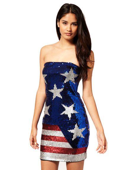 American Flag Long Prom Dress
