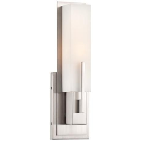 Possini Euro Midtown 15 Quot High Satin Nickel Wall Sconce
