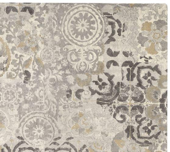 #potterybarn. See More. Talia Printed Rug   Gray