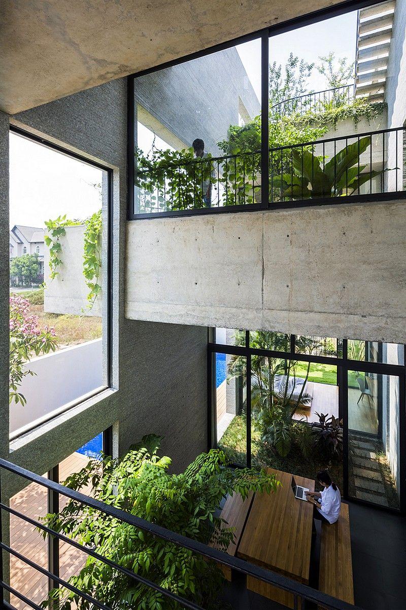 Binh House By Vo Trong Nghia Architects Vietnam Architecture Unique Stacking Green Vo Trong Nghia Daisuke Sanuki Shunri Nishizawa