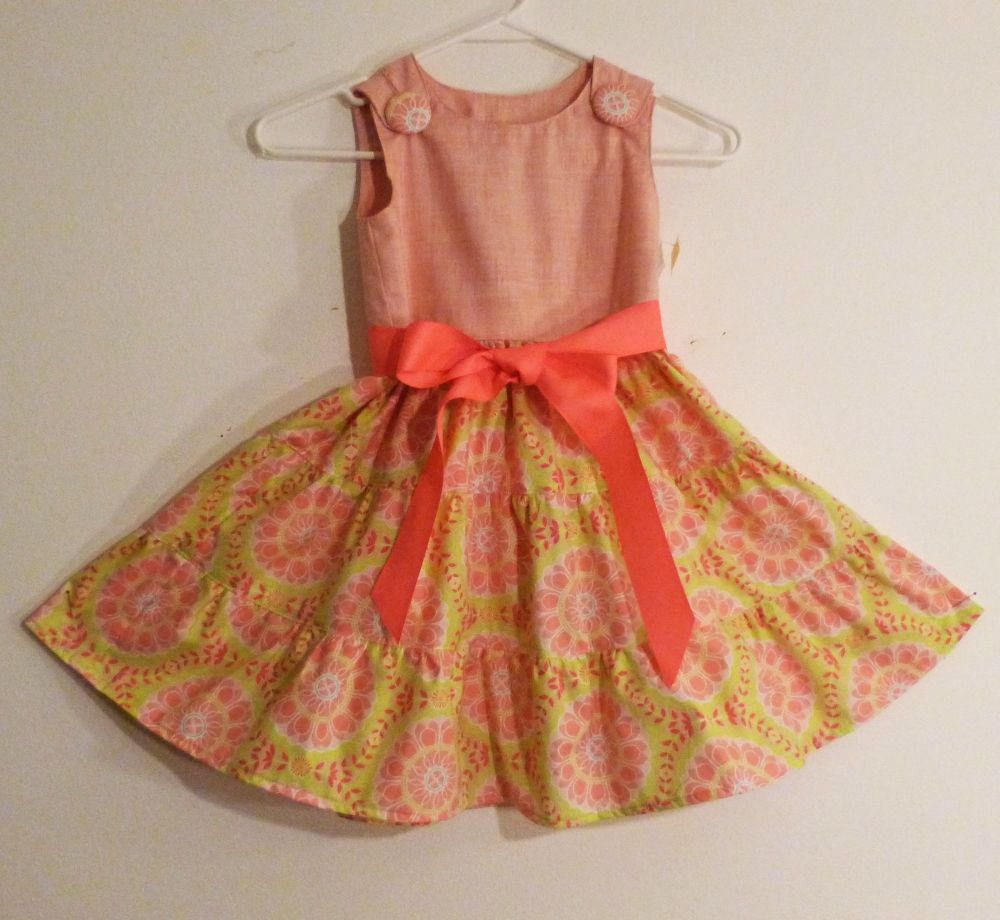 6a058bfd5 Grils 3 Tier Pink top Jumper Dress