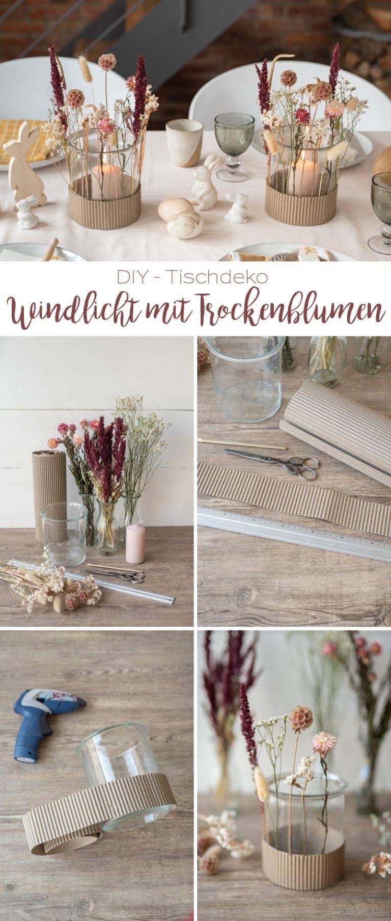 DIY – Windlicht mit Trockenblumen und Dekoideen für eure Tischdeko zu Ostern – Leelah Loves