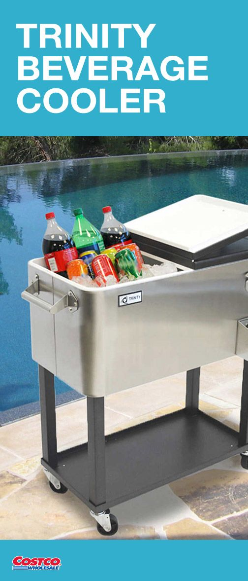 Can T You Just Picture This Trinity Stainless Steel Beverage Cooler Pool Side When Re Looking For Products To Make Outdoor Entertaining Fun And Easy