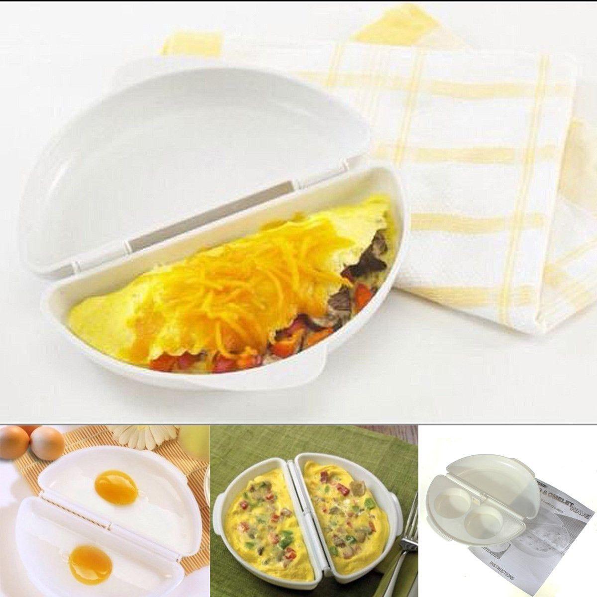 Eggs Egg Poachers Kitchen Home Tool Omelette Pan Maker Microwave Omelet Pan