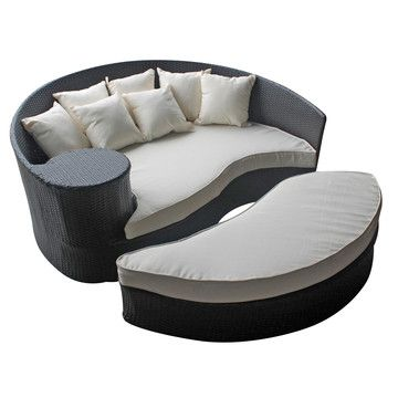 Taiji Daybed & Ottoman Esp Whi | Daybed, Foot rest and Daybed sets