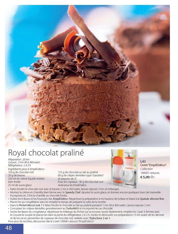 tupperware recette royal chocolat