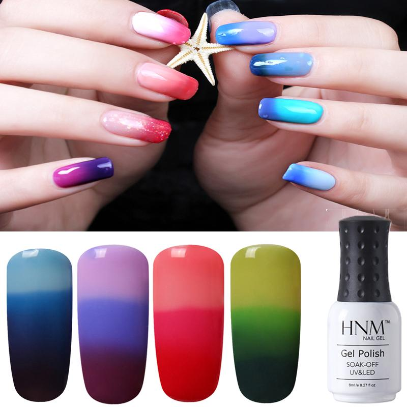 HNM 8ml 32 Farben Thermo Change Nagellack Temperatur Change Farbe UV LED Lampe Top Primer Lucky Varnish Gel Lack   – Nails & Accessories