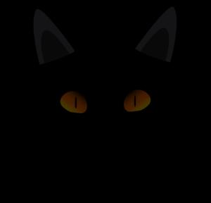 black cat face clip art at clker com vector clip art online rh pinterest com simple cat face clipart halloween cat face clipart