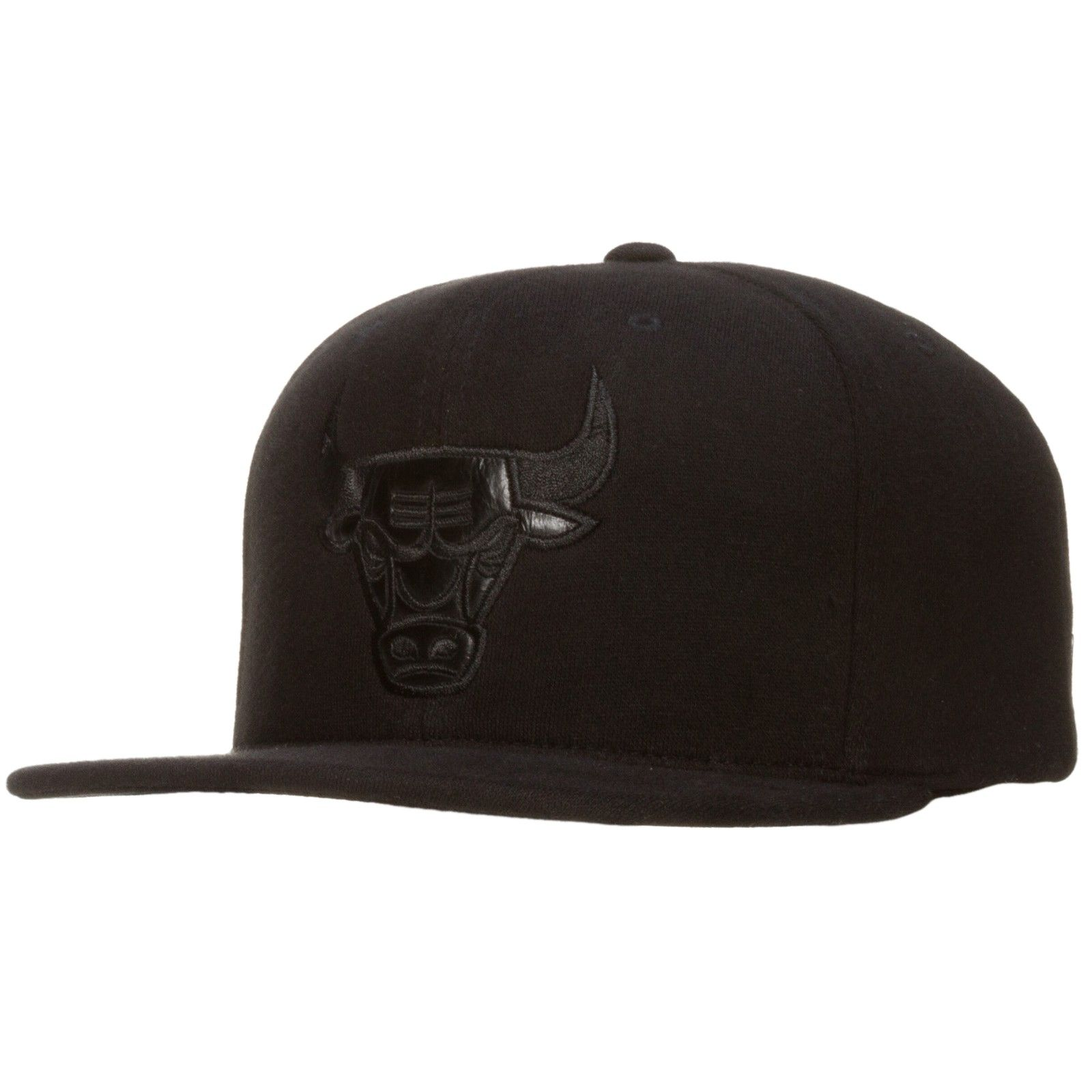 Chicago Bulls Black Monochromatic Angry Bull Snapback Hat by Mitchell & Ness  #Chicago #Bulls