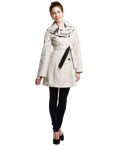 I'll probably pin a Betsey Johnson dress next, but this coat caught my eye first.  So nice to see that kind of collar without it looking like the dinosaur in Jurassic Park.