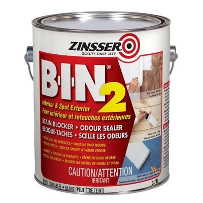 Zinsser Zinsser Bin2 3 78l 261664 Home Depot Canada Exterior Primer Stained Blocks Shellac