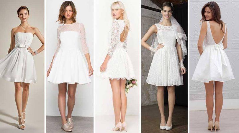 32 robes courtes de mariage pour cérémonie