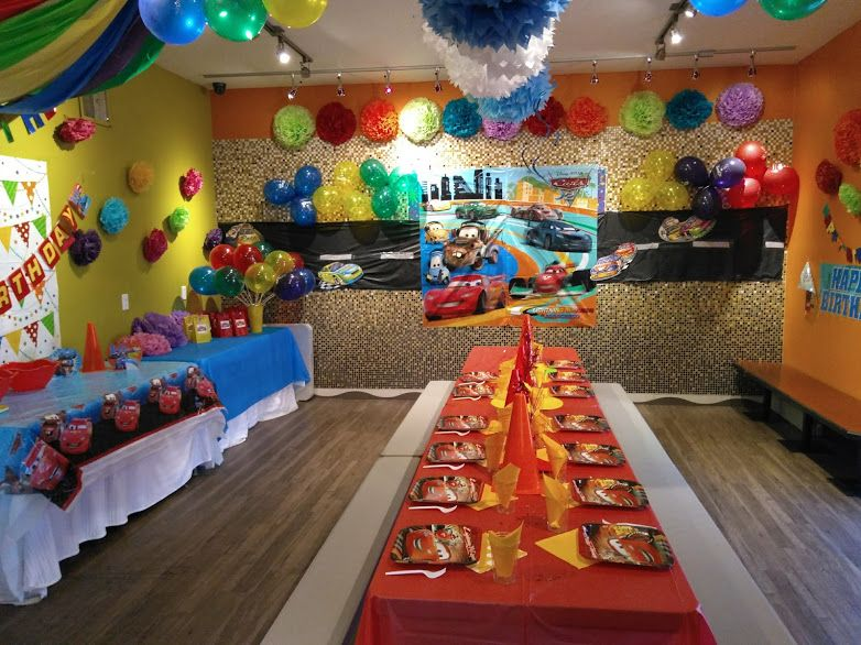 Jump2it Kelowna Cars Themed Birthday Party Car Birthday Theme Cars Theme Birthday Party Birthday Party Themes