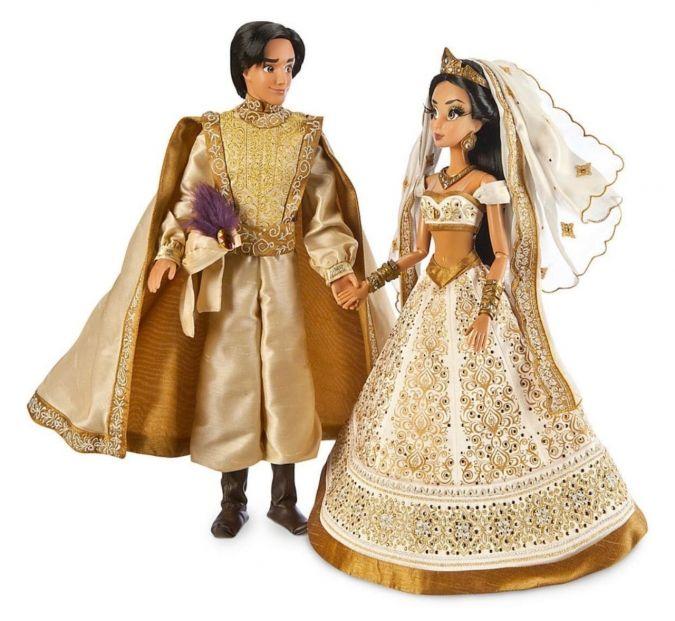 Лимитированные куклы Дисней Жасмин и Алладин свадебная ...