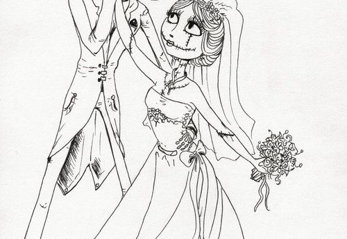 Jack And Sally Coloring Pages | The Nightmare Before Christmas ...
