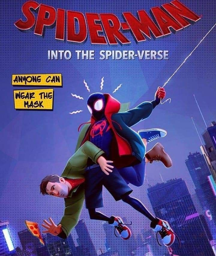 "Spider Man into the Spider Verse Movie Poster Comics Film Print 27x40/"" 24x36/"""