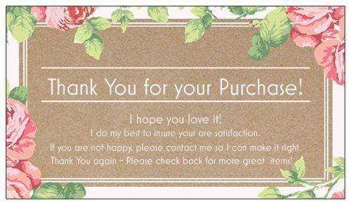 100 professional thank you cards ebay poshmark etsy seller