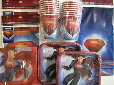man of steel birthday party supplies photos | SUPERMAN : Man Of Steel - Birthday Party Supply Set Pack for 16 w ...
