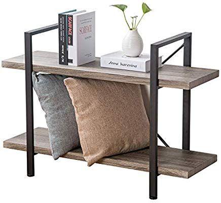 meet c4661 aa476 Amazon.com: HSH Furniture 2-Shelf Bookcase, Industrial Wood ...