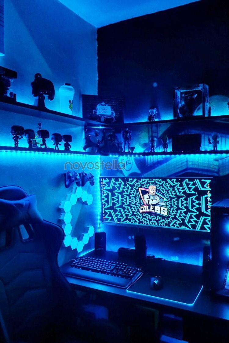 110 Gaming Room Inspiration Ideas In 2021 Led Lights Lights Game Room