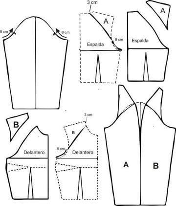 Sencillos y modernos patrones de blusas para damas