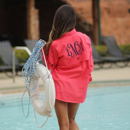 066bc00e09097 Monogrammed Fishing Shirt | Perfectly Preppy in 2019 | Fishing ...