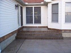 Stamped Concrete Porch And Patio Patio Aggregate Patio Porch Patio