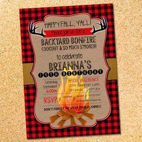 Happy Fall Y All Bonfire Invitation Mine Pinterest Bonfire