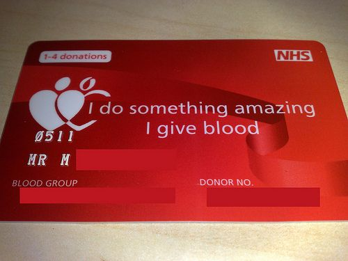 Blood donor cards, another way to expand and add details to the ...
