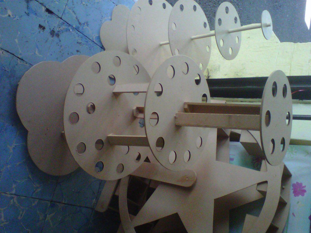 Base de madera conera para cupcakes grande bautizos baby - Bases para cupcakes ...