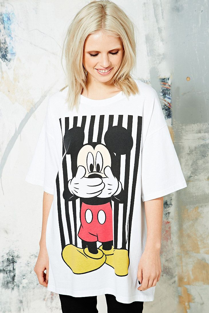 T-shirt ample Mickey Oops | Minnie & Mickey | Pinterest | Oversized ...