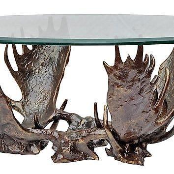 Merveilleux Moose Antler Furniture   Faux Moose Antler Coffee Table