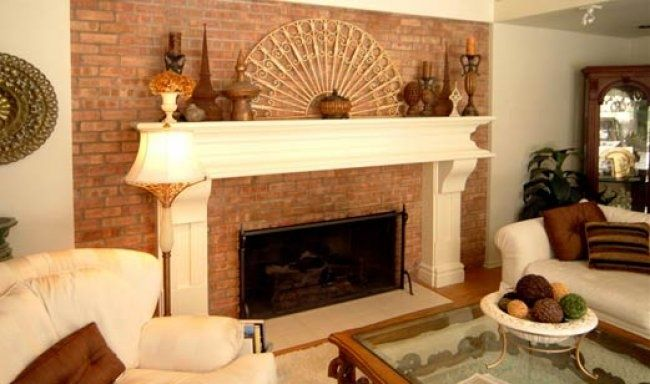 Grand Rapids Mi White Fireplace Mantels Red Brick Fireplaces