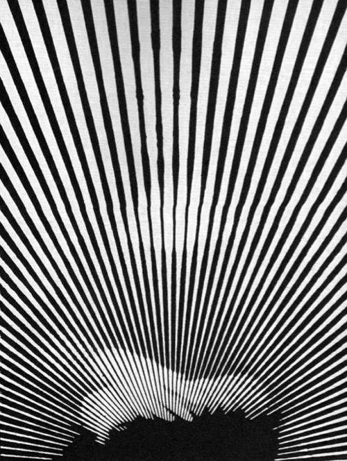 black & white psychedelic