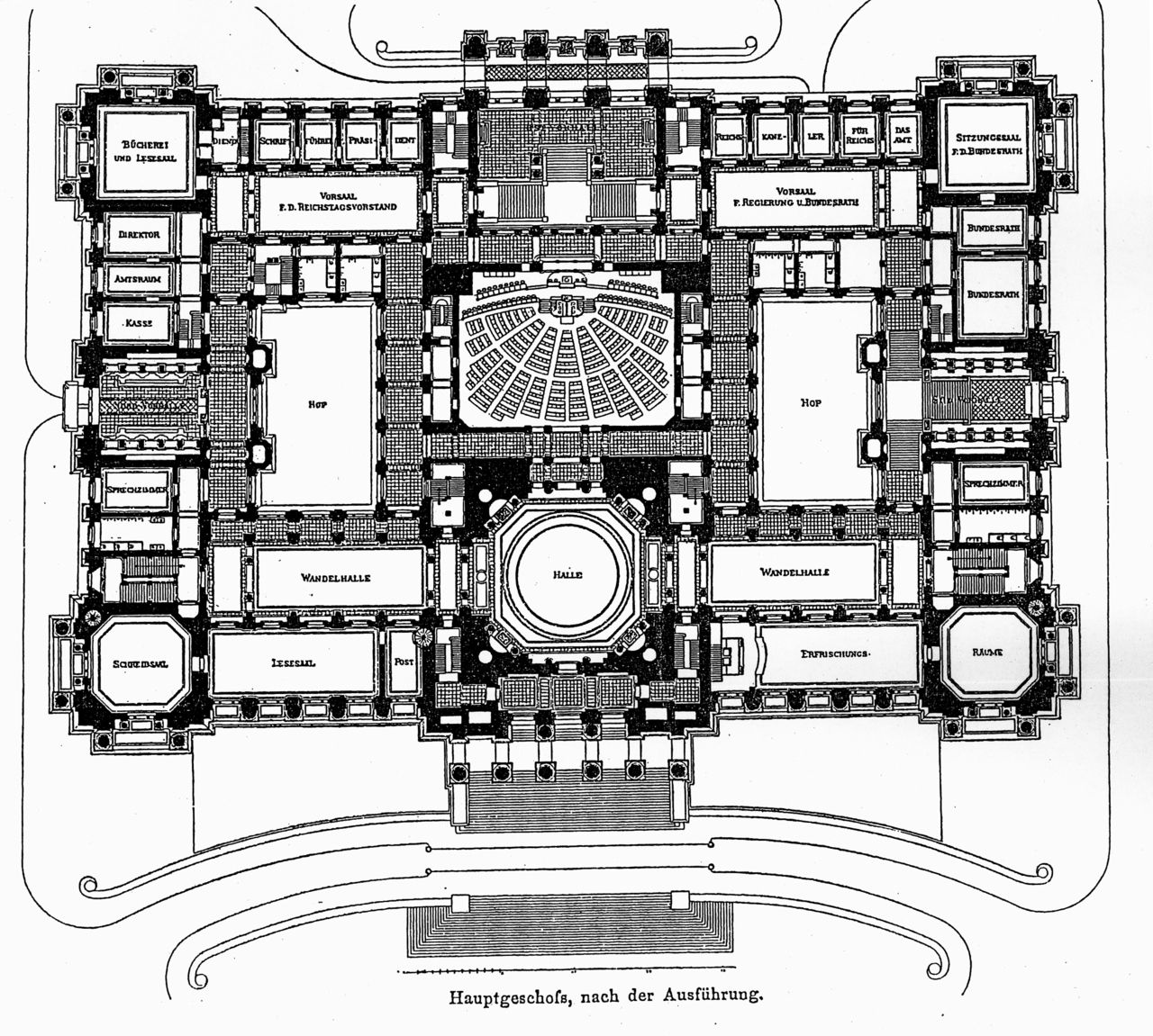 Plan Of The Main Floor Of The Reichstag Berlin Architecture Mapping Berlin Architecture Plan