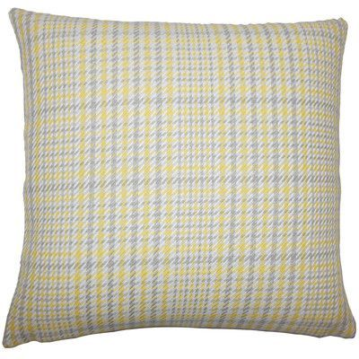 The Pillow Collection Kalle Houndstooth Bedding Sham Size: Standard, Color: Jonquil