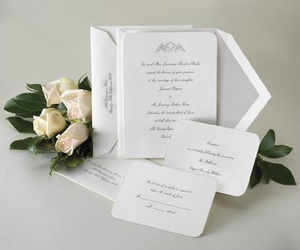 Love These Invites In Silver And White Script Wedding Invitations Would Like The Design On