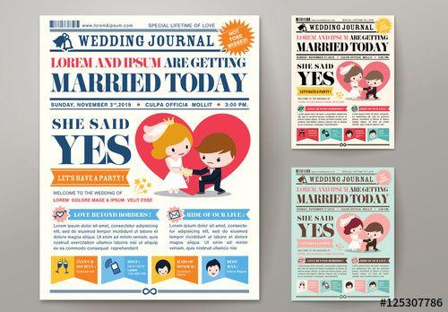 Newspaper Journal Wedding Invitation Template Newspaper Wedding Invitations Wedding Invitations Wedding Newspaper