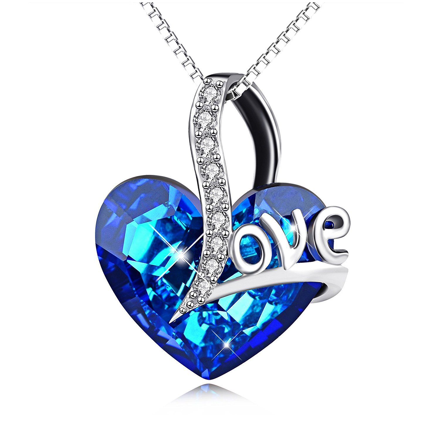 4216d05a847 Necklace for Love, Heart Pendant Necklace with Swarovski Crystals, Jewelry  for Women *** Check this awesome product by going to the link at the image.