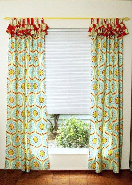 DIY Curtains: Brighten Up A Room With Colorful Curtains That Have An  Attached Ruffled Valance
